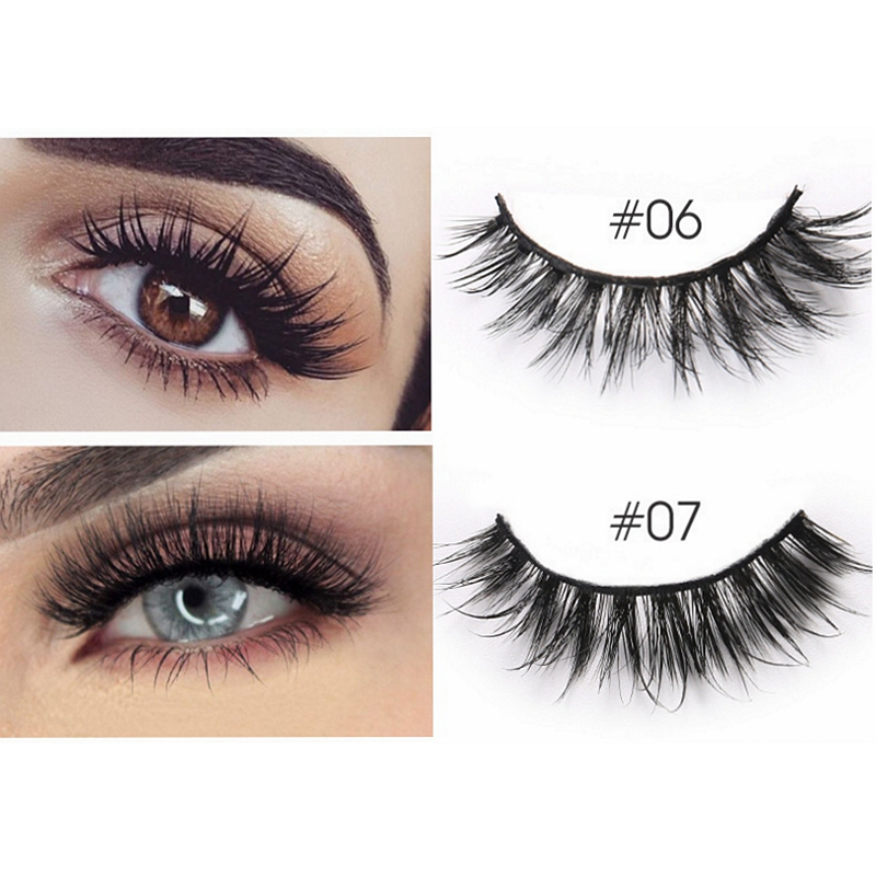 Image 5 - CLOTHOBEAUTY Mink Eyelashes 3d Mink Hair Lashes Volume Natural Long Thick Wispy Handmade 1Pair Eyelashes Extension for Makeup 3D-in False Eyelashes from Beauty & Health