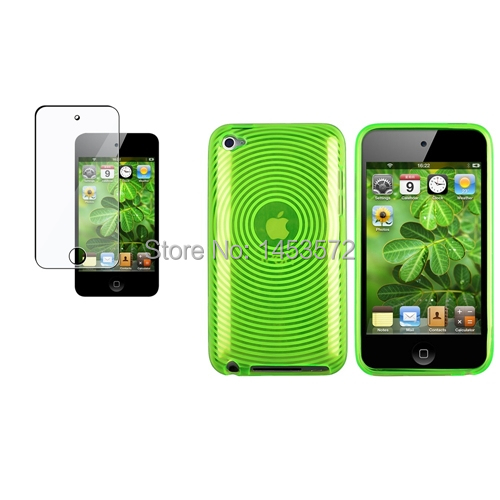 a2b1802ee88 Green Clear Circle TPU Skin Case Cover and Screen protector for ipod Touch  4 4G 4th Generation on Aliexpress.com | Alibaba Group