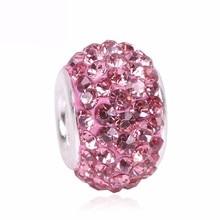 Ranqin Charm Beads Pink Silver Color Bead Fit Pandora Original Bracelet Women Jewelry DIY Making Gift Luxury Women Jewelry