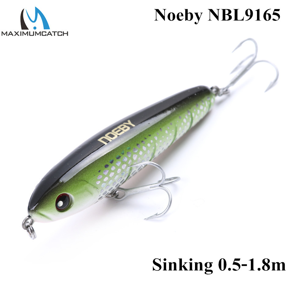 NOEBY Minnow 75mm 28g Fishing Lures Sinking0.5-1.8m Leurre Dur Peche Hard Baits Souple Shad with France VMC hook