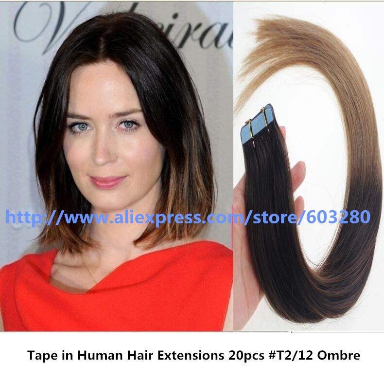 Best ombre hair style for 2017 tape in human hair extensions best ombre hair style for 2017 tape in human hair extensions positive view of pretty light brown to blonde 16 24inch 20pcs in skin weft hair extensions from pmusecretfo Gallery