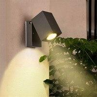 Thrisdar 90 Degree Rotating GU10 Outdoor Waterproof LED Porch Light Balcony Stair Villa Wall Light corridor Exterior Wall Lamps