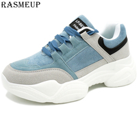 RASMEUP Chunky Sneakers Women 2019 Spring Fashion Women's Platform Shoes Comfortable White Thick Soled Sneakers Woman Footwear