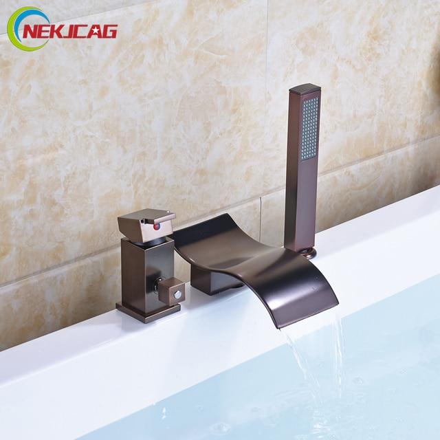 Deck Montiert Wasserfall Badezimmer Wanne Waschbecken Wasserhahn
