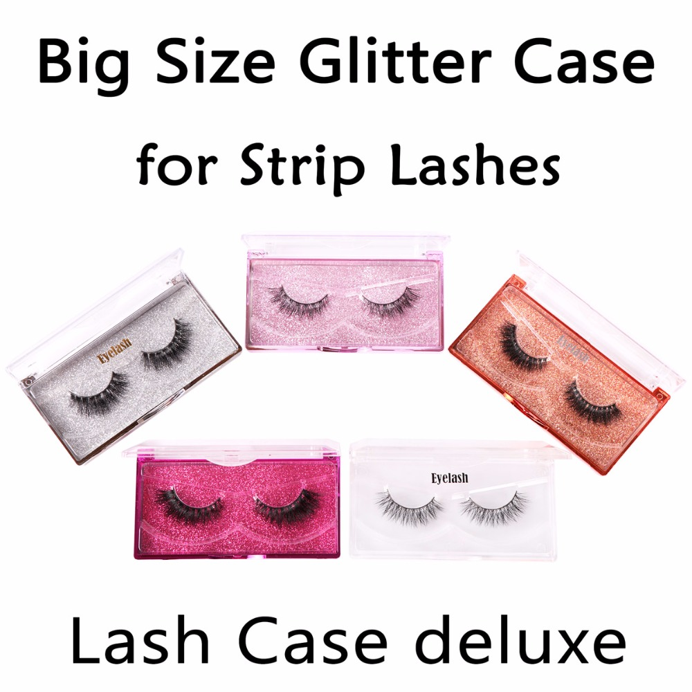 Customize Gig Size Glitter Cases for Strip Eyelashes Professional Stamping Service for Lashes Sellers Deluxe Lash Cases цена