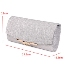 Shiny Women Evening Bag – Wedding Clutch Bag With Chain and Luxury Glitter