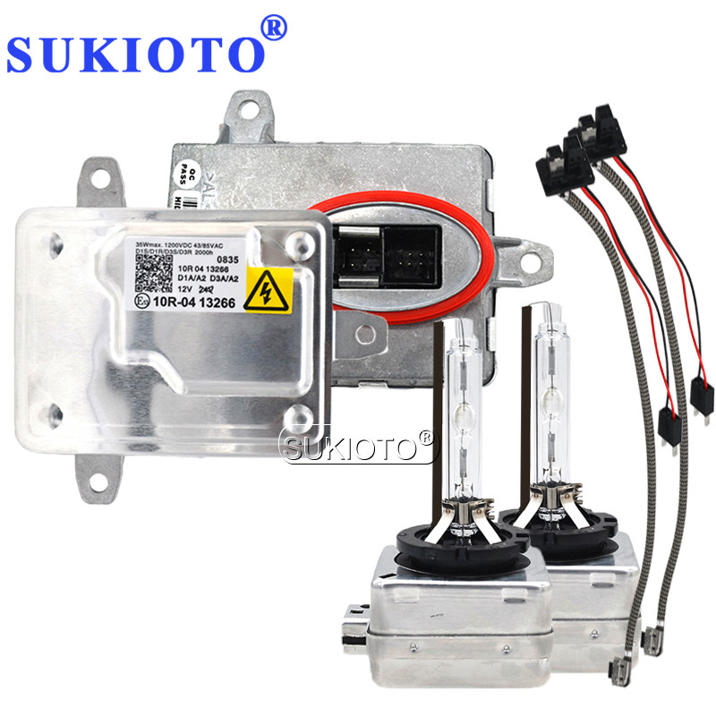 SUKIOTO Car Xenon Headlight D1S D3S xenon HID Kit D1R D3R 4300K-8000K 35W electronic ballast part 130732931201 1 307 329 468 15 цены