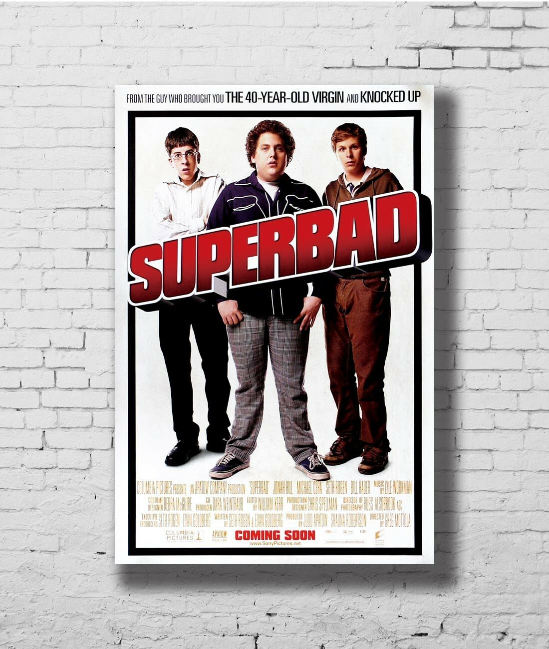 Q0943 Posters And Prints 24x36 Superbad 2007 Classic Movie Jonah Hill Michael Cera Art Poster Canvas Painting Home Decor Painting Calligraphy Aliexpress