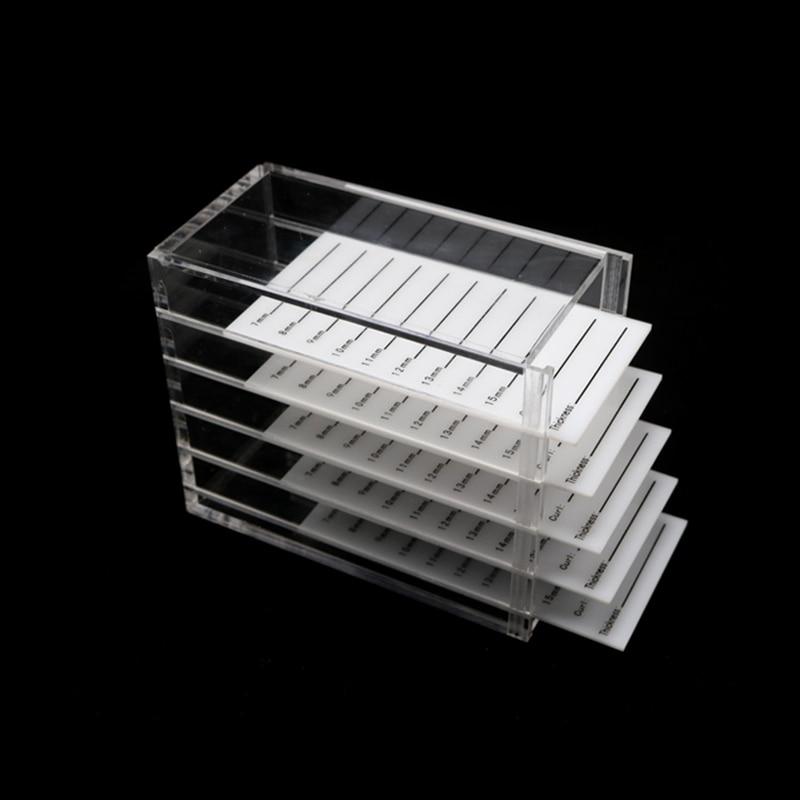 Acrylic Grafting Eyelash Storage Box Makeup Display Container 5 Layers Eyelashes Glue Pallet Holder Case Eyelash Transparent Box