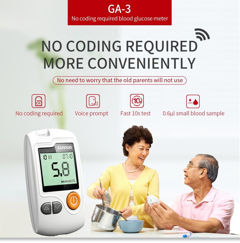 GA-3 50 Engarrafada de Tiras de Teste e Lancetas para Diabetes 50
