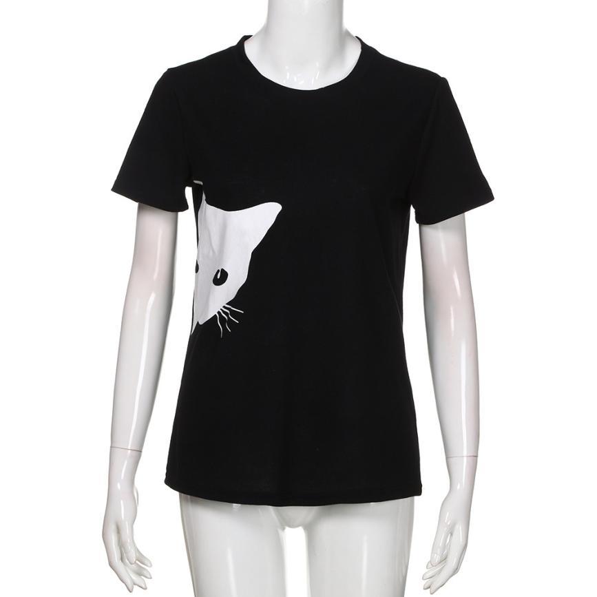 d68d3f72 Summer Black Women T shirt Sailor Moon Luna Cat Print Short Sleeve Tee Top  O Neck T shirt for Women 5.4-in T-Shirts from Women's Clothing on  Aliexpress.com ...