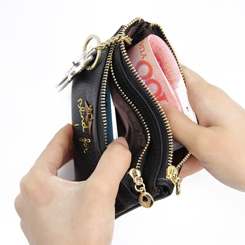 Fashion Change Coin Purse Mini Zipper Wallet Key chain Keyring Holder Pouch