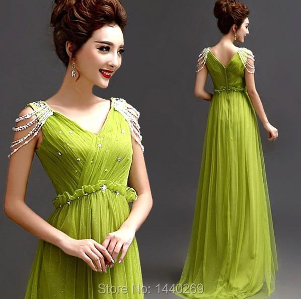 Simple Elegant Long Sleeve V Neck A Line Lace Top Satin: 2016 Elegant A Line V Neck Cap Sleeve Tulle Neon Green