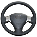Black  Artificial Leather Car Steering Wheel Cover for Toyota Corolla 2006-2010 Matrix 2009