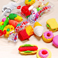 6 Pçs/lote Criativo Forma Fruta Grande Cozinha Borracha Eraser Estudantes Recompensas Presentes Crianças Ferramentas Educacionais Brinquedos Brinquedo De Banho para Crianças