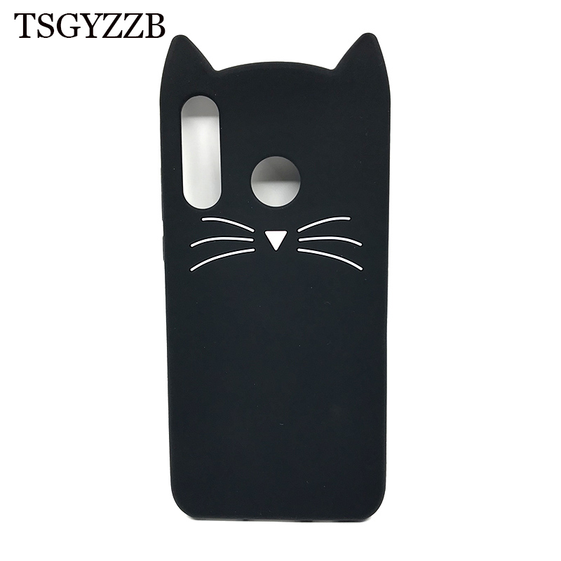 For Huawei P30 Case Lite Pro Silicone Soft 3D Cute Beard Cat Cover Coque P 30 Phone Cases