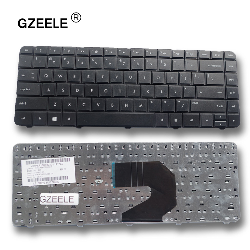 GZEELE New Laptop Keyboard US English Black For HP Compaq Presario CQ57 CQ-57 CQ58 CQ-58 Black