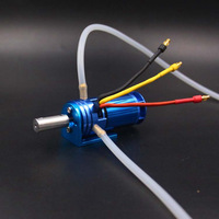 RC boat 2862 2800KV water cooled brushless outrunner motor with fan mount silicone tube for deep V hydro catamaran