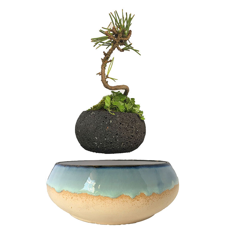 2018 japan magnetic levitation Floating Plants Ceramic Garden Pots  Anniversary Gifts for men free shipping (no plant)