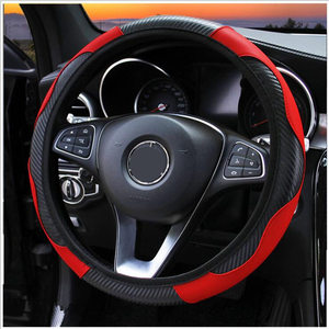 Image 3 - 100% Wear resistant Leather Universal Car Steering wheel Cover 36CM 39CM Car styling Sport Auto Steering Wheel Covers Anti Slip