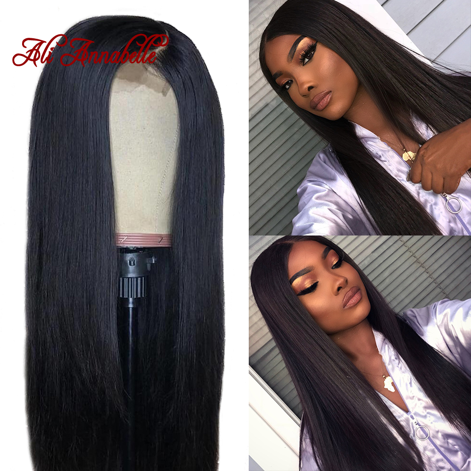 360 Lace Frontal Human Hair Wigs Straight Hair 150 180 Density Lace Front Wigs Full End