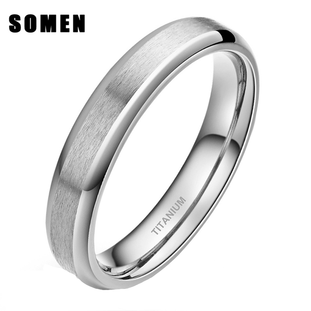 6mm Women Men Clic Brushed Pure Anium Wedding Band Ring For School Graduation Tail Size 4