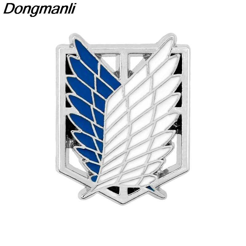 P2354 Dongmanli Fashion Japan Anime Jewelry Attack On Titan Pins Brooch Legions Badge Lapel Pin Brooches For Fans Collection