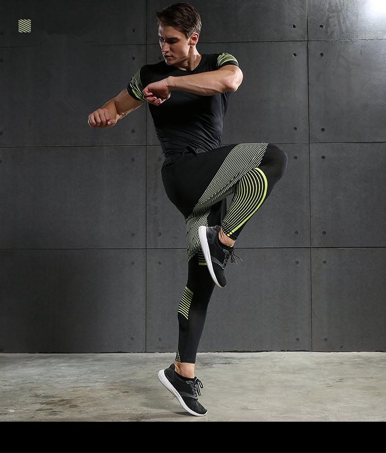 Męska Kompresja Running Garnitury Ubrania Zestaw Kurtki Sportowe Szorty I Spodnie Biegaczy Gym Fitness Kompresja Rajstopy 4 sztuk/zestawów 32
