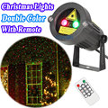 Outdoor Christmas Star Laser Lights Projector Showers Christmas Tree Home Decorations Red Green Static Twinkle With IR Remote