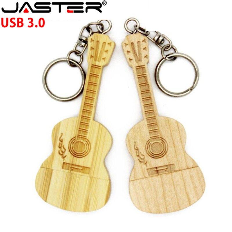 JASTER High Speed Usb 3.0 Guitar-shaped Pen Drive Wooden Guitars Model Usb Flash Drive Pendrive 4GB 8G 16GB 32GB Gifts