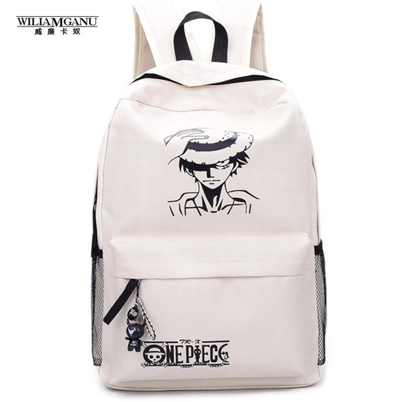 Prix pour 2017 Nouvelle Mode One Piece Luffy Sacs D'école Anime Bookbag Chirdren Adolescents Sac À Dos Hommes Femmes Sac À Bandoulière