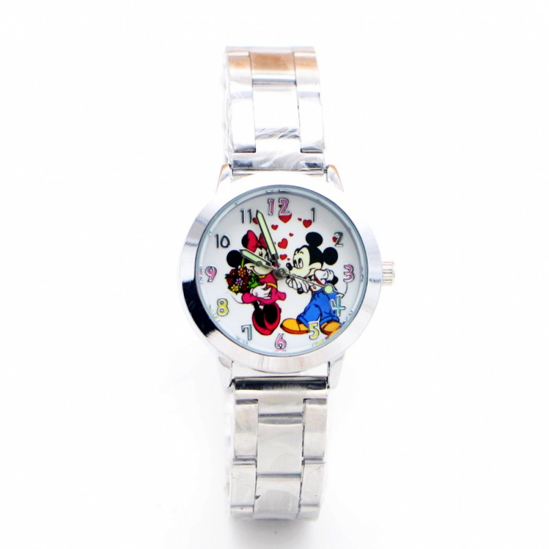 2019 New Cartoon Minnie Heart Desgin Kids Watch Ladies Stainless Steel Women Girls Watches Relojes Montres Kol Saati