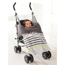 Daballa Trixx одеяло для детской коляски новорожденное мягкое Коралловое Флисовое одеяло в полоску полотенце-пеленка с лямками, чтобы прикрепить на ребенка багги