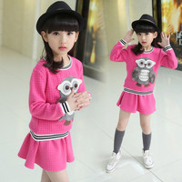 Spring Autumn Baby Girls Clothes Casual Girls Suit Party Toddler Fashion Long Sleeve T Shirt Skirt