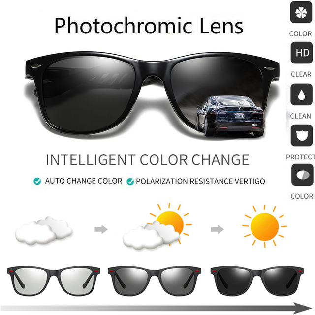 ZJHZQZ New Alloy Polarized Photochromic Sunglasses Mens Womens UV400 Driving Fishing Transition Chameleon Lens Sun Glasses