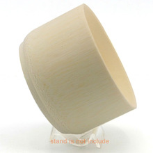 3.9″ Natural Bamboo Shaving Shave Brush Mug Bowl Cup Can Hold Soap Cream Holder