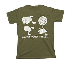Choose Your Weapon Fishinger REELS Mens Ladies Unisex Fit Funny Gift