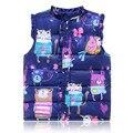 2016 Autumn winter children clothes new girls Outerwear&Coats Animal Graffiti Girls Vest Jackets Baby Girl Warm Waistcoat