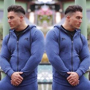 Image 5 - YEMEKE の男性のサメパーカーシングレットスウェットメンズパーカーストリンガーボディービルフィットネス男性のパーカーシャツパーカー