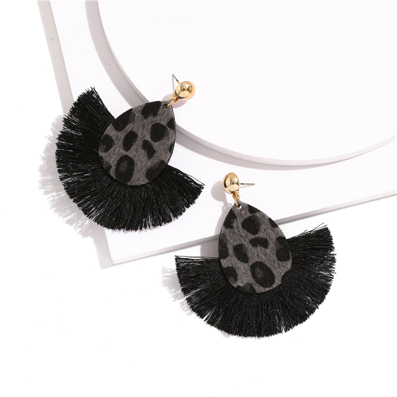 Bohemia Leopard Dangle Drop Earrings Biscuits Round Resin Cheetah Tassel Earrings for Women sector Jewelry Pendientes oorbellen 7