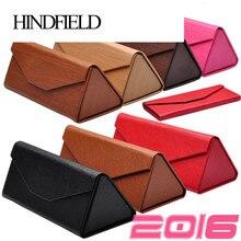 HINDFIELD, высококачественный Чехол для очков ручной работы, модный бренд, треугольные складные солнцезащитные очки, коробка, Чехол для очков, 8 цветов, DC01