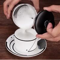 Double Layer Manually Coffee Foam Maker Easy Clean Ultra Dense Filter Hand Held Milk Foam Cup