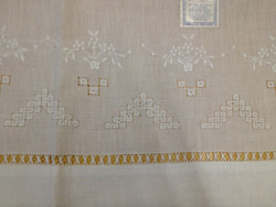 Nieuwigheid Unisex Zakdoeken 12 STKS/Lot70 * 102 CM Wit linnen Zakdoek Geborduurde Bloemen Vintage Vakantie Zakdoeken Voor Gelegenheden