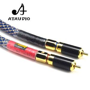 Image 5 - Ataudioワンペアオルトフォン8n ofc hifi rcaケーブル純銅intecconnectオーディオケーブルで炭素繊維rcaプラグ