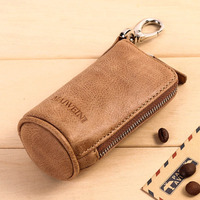 2017 New Women Men S Car Key Wallets Cowhide Leather Zipper Purse Bag Fashion Multifunctional Housekeeper