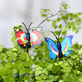 100pcs Colorful Butterfly Fairy Garden Miniatures Decoration Resin Bonsai Micro Landscape DIY Crafts Miniature Fairy Figurines