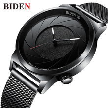 Biden Watches Men Luxury Brand Quartz Wristwatches Clock Man Top Relogio Masculino Fashion Casual Men's Watch  Stainless Steel все цены