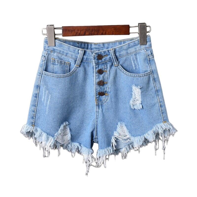 Womens Sexy High Waist Tassel Ripped Jeans Summer Large Size Denim Shorts 12