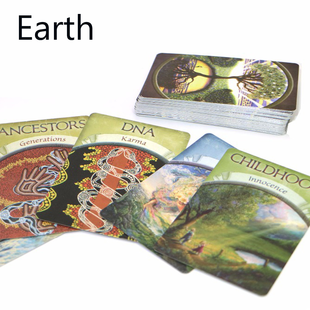 Full English earth oracle cards 48 cards, tarot cards for home party oracle cards game