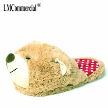 women winter slippers Custom slippers Home House Slippers Children indoor bear Lovers Warm Woman Slippers Plush Shoes